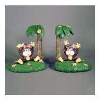Monkey Bookends by Judith Edwards Designs