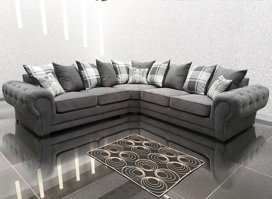Bel tage verona corner sofa reviews wayfair verona corner sofa parisarafo Image collections