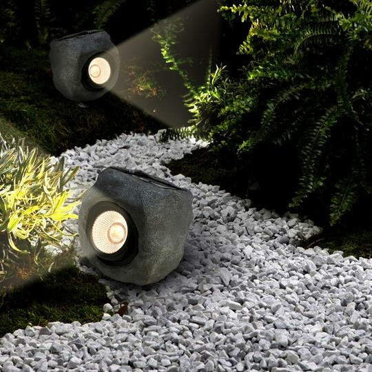 Rock Solar Color Changing Spot Light by Myfuncorp