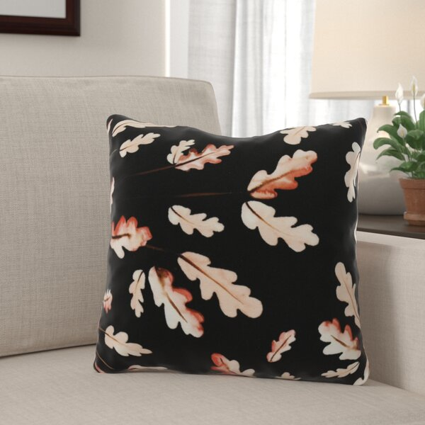 Lanz Wild Oak Leaves Floral Throw Pillow by Winston Porter