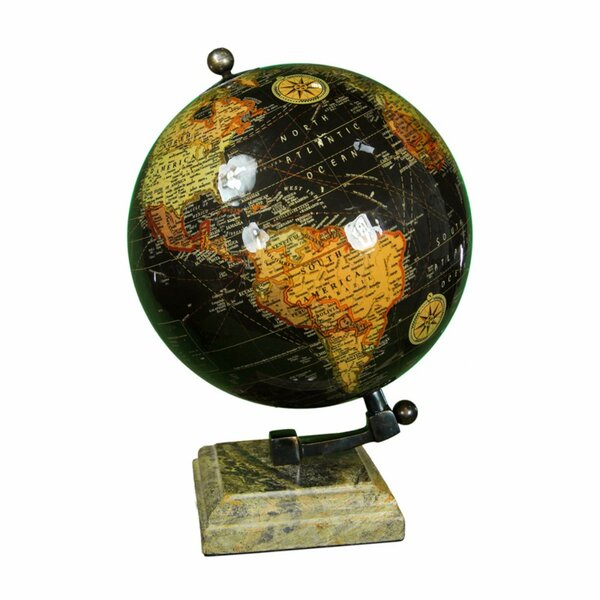 Captivated Enamel Globe by Winston Porter