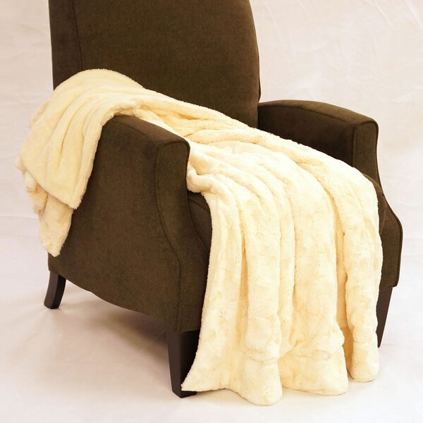 Swirl Faux Fur Throw Blanket by BOON Throw & Blanket