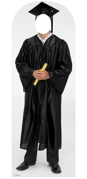 Life-Size Stand-Ins Male Graduate Cap and Gown Stand-Up by Advanced Graphics