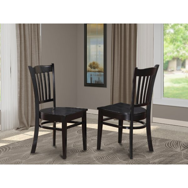 Review Langwater Solid Wood Dining Chair (Set Of 2)
