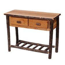 Hickory Two Drawer Console Table by Fireside Lodge