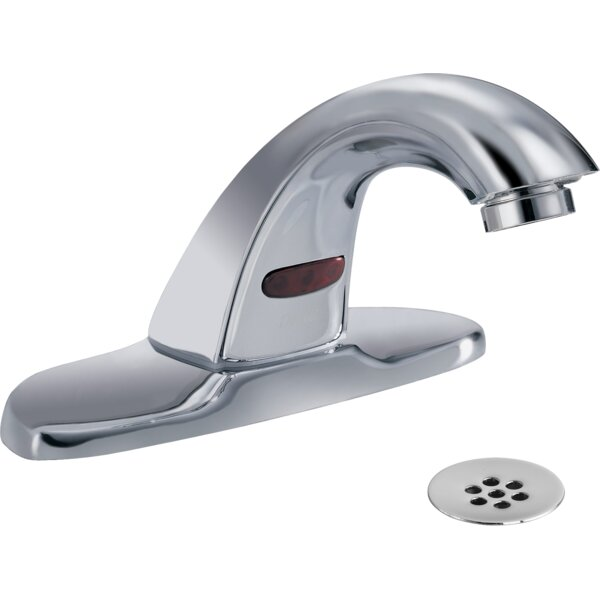 Electronic Battery Lavatory Faucet with Grid Strainer by Delta Delta
