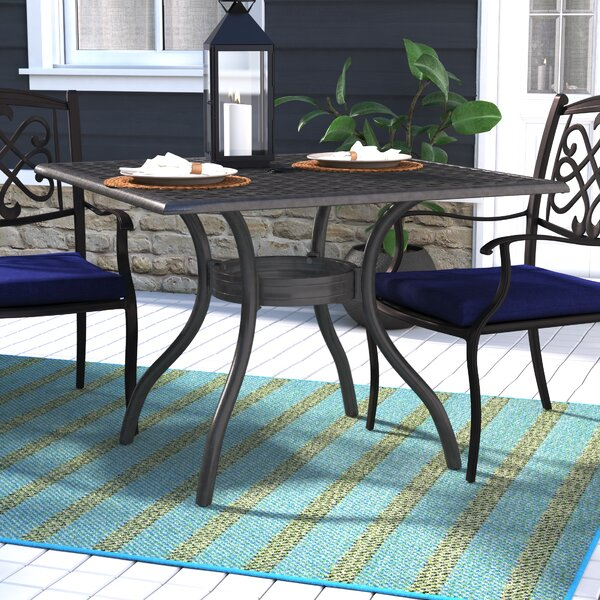 Thomasson Metal Dining Table by Darby Home Co