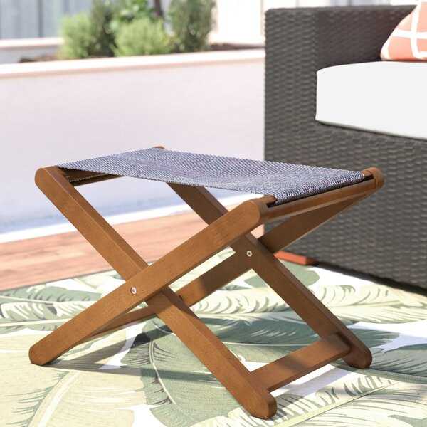 Mallie Sling Outdoor Ottoman by Beachcrest Home