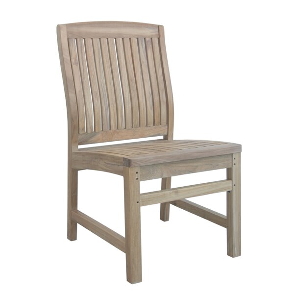 Bowker Teak Patio Dining Chair by Freeport Park
