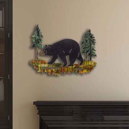 Millwood Pines 3D Black Bear Wall Décor | Wayfair