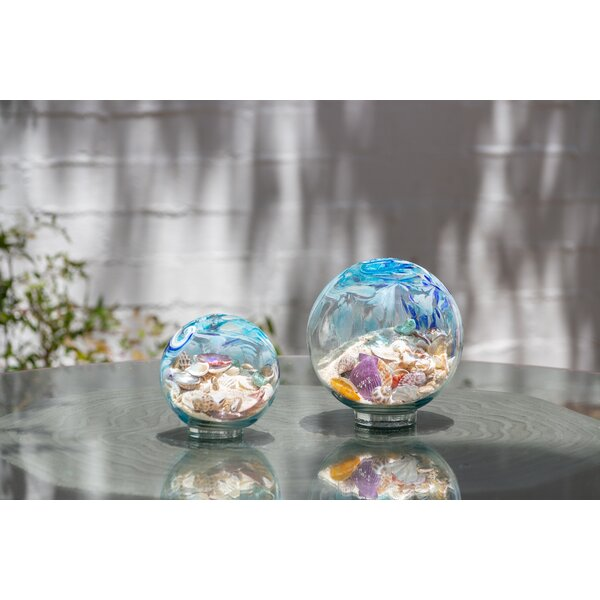 Heidelberg Art Glass Sea Water Globe by Highland Dunes
