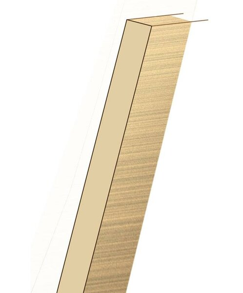 0.75 x 7.5 x 60 White Oak Riser by Moldings Online