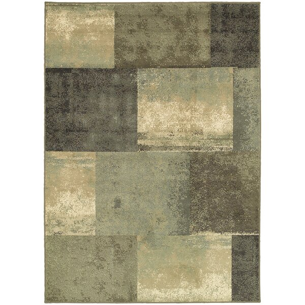 Larson Brown/Green Area Rug by Ebern Designs