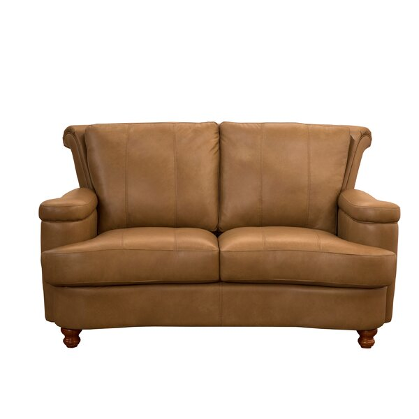 Roseberry Leather Loveseat By Charlton Home