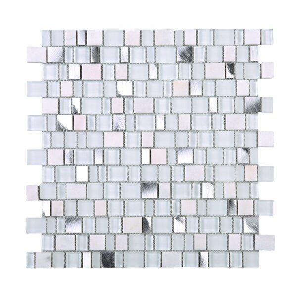Cubemax Random Sized Mixed Material Tile in White by Multile