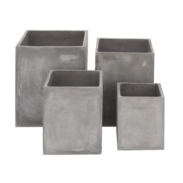 4-Piece FiberClay Pot Planter Set by Cole & Grey