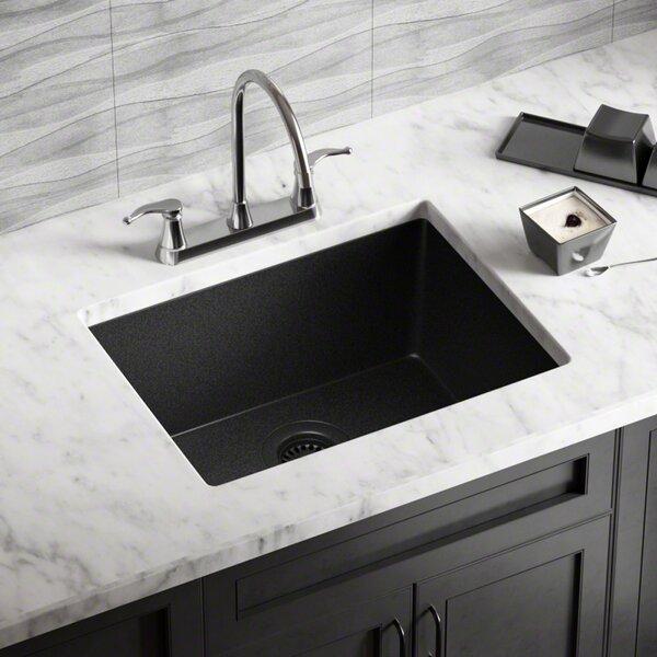 Granite Composite 22 L x 17 W Undermount Kitchen Sink with Flange by MR Direct