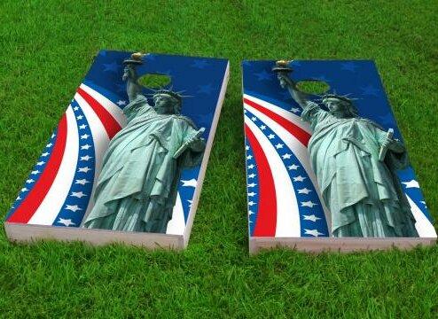 America Theme Cornhole Game (Set of 2) by Custom Cornhole Boards
