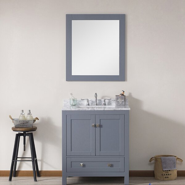 Brier 30 Single Bathroom Vanity Set with Mirror by Wrought Studio