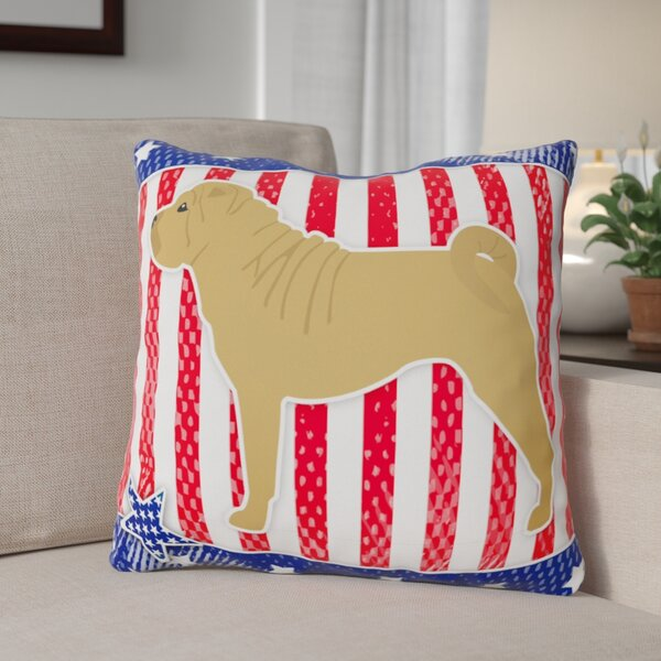 Patriotic Modern Indoor/Outdoor Throw Pillow by The Holiday Aisle