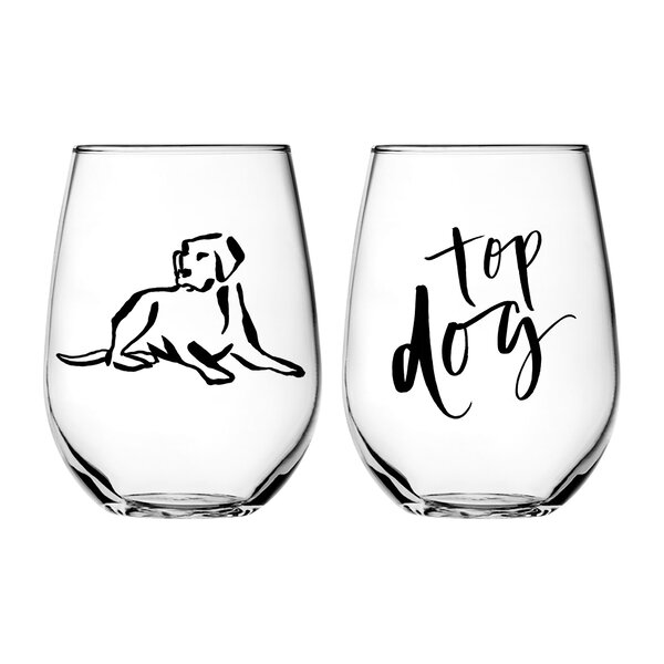 Chelsea Petaja Top Dog 2 Piece Every Day Glass Set (Set of 2) by Vandor LLC