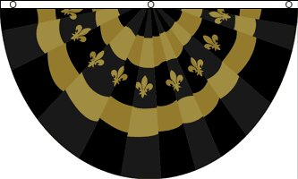 Fleur De Lis Bunting Pleated Flag by Flags Importer