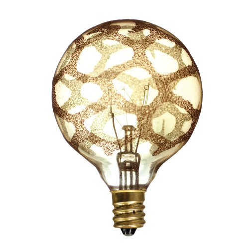 40W Amber E12/Candelabra Incandescent Light Bulb (Set of 6) by Bulbrite Industries