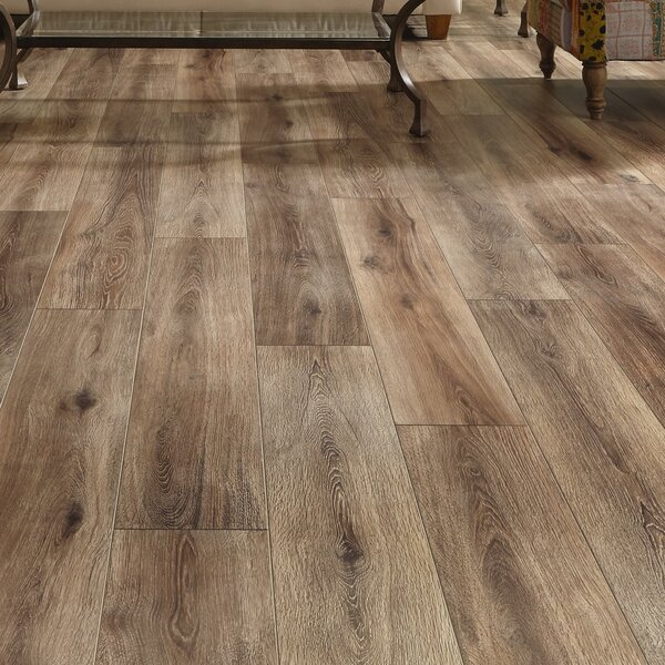 Restoration Wide Plank 8'' x 51'' x 12mm Laminate Flooring in Brushed Coffee by Mannington