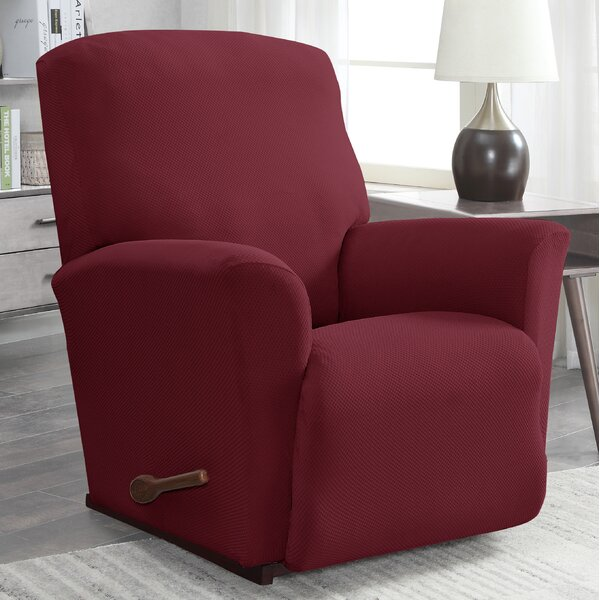 Solid Pique Box Cushion Recliner Slipcover by Winston Porter