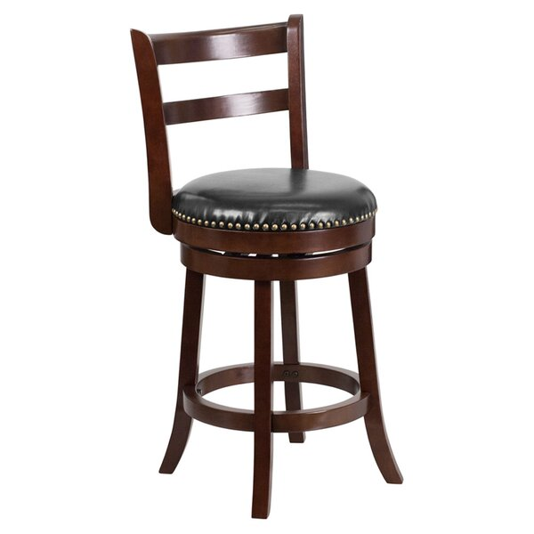 Gabor Counter Height 26.25 Swivel Bar Stool by Darby Home Co