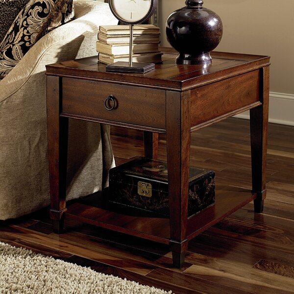 Langer End Table With Storage By Millwood Pines