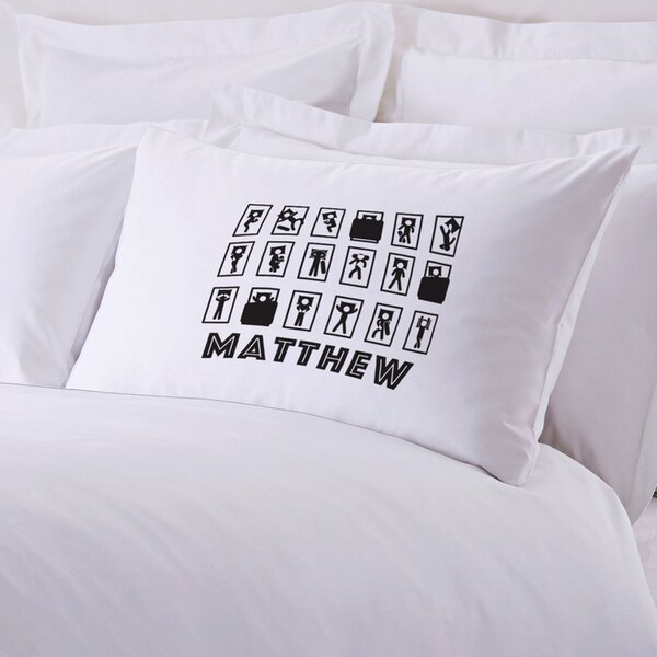 Personalized Sleepy Head Pillow Case by Monogramonline Inc.
