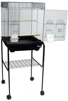 Flat Top Small Bird Cage with Stand by YML