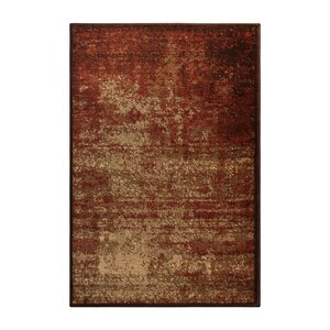 York Red/Beige Area Rug