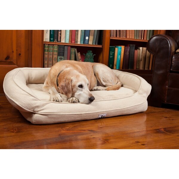 EZ Wash Premium Headrest Dog Bed with Memory Foam by 3 Dog Pet Supply