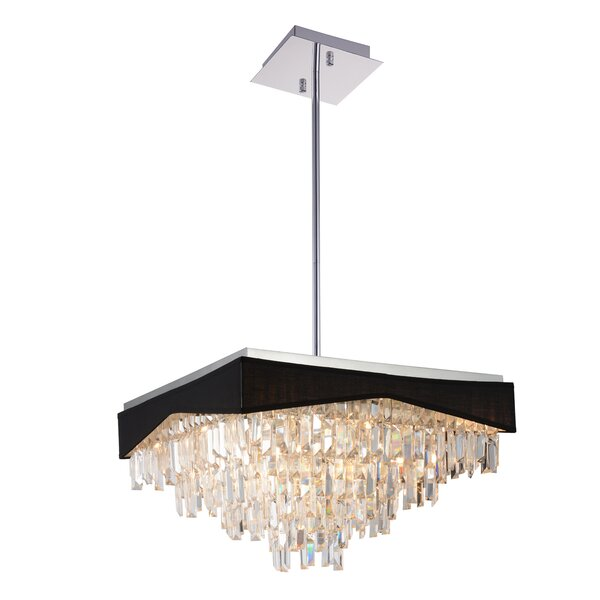 Schutz 17 - Light Unique / Statement Rectangle / Square Chandelier By House Of Hampton