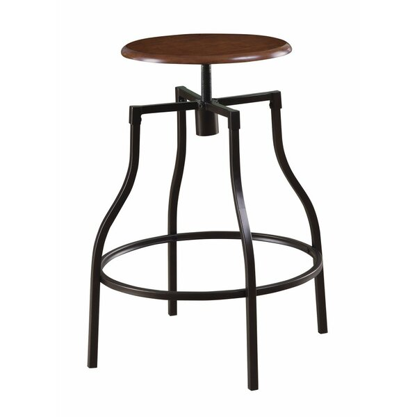 Hennigan Swivel Adjustable Height Bar Stool by Williston Forge