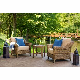 Bahamas 5 Piece Patio Seating Group with Cushion By Blue Oak Outdoor