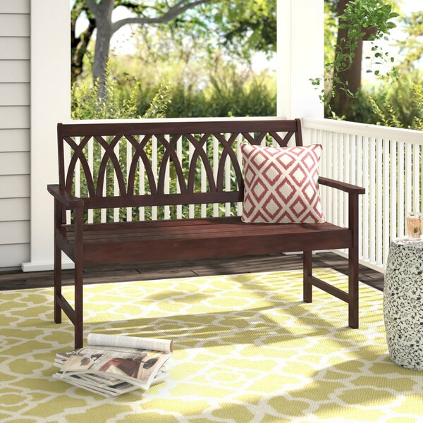 Creekmore Wooden Garden Bench by Charlton Home