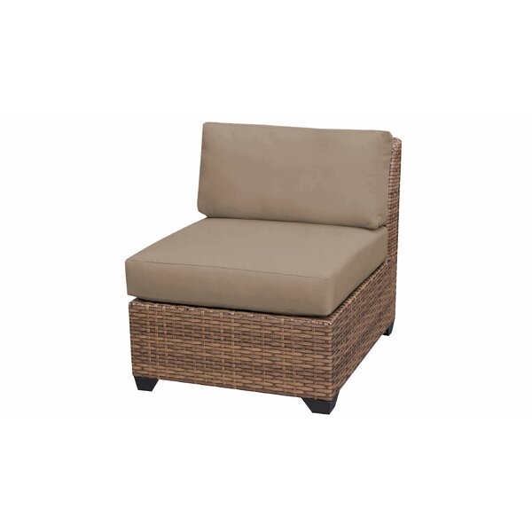 Medina Armless Patio Sofa with Cushions by Rosecliff Heights