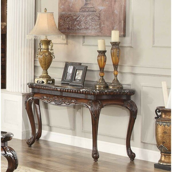 Review Brooklandville Traditional Engraved Console Table