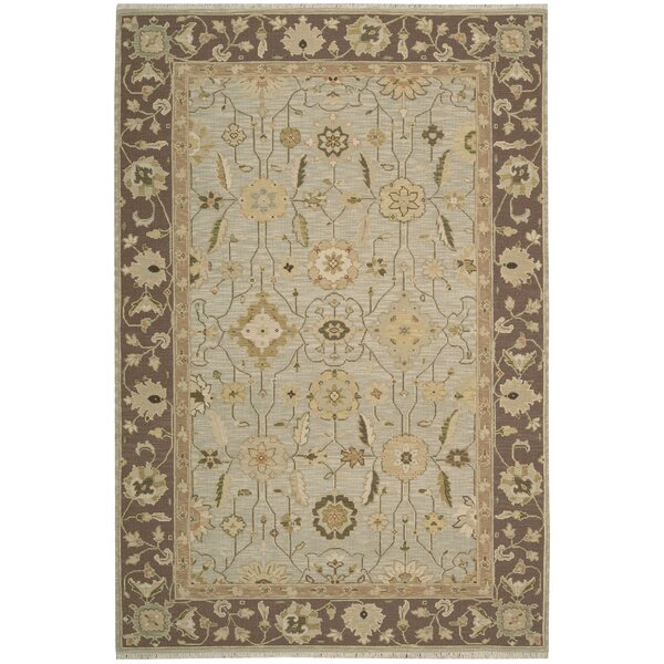Burnham Hand-Woven Gray Area Rug by Darby Home Co