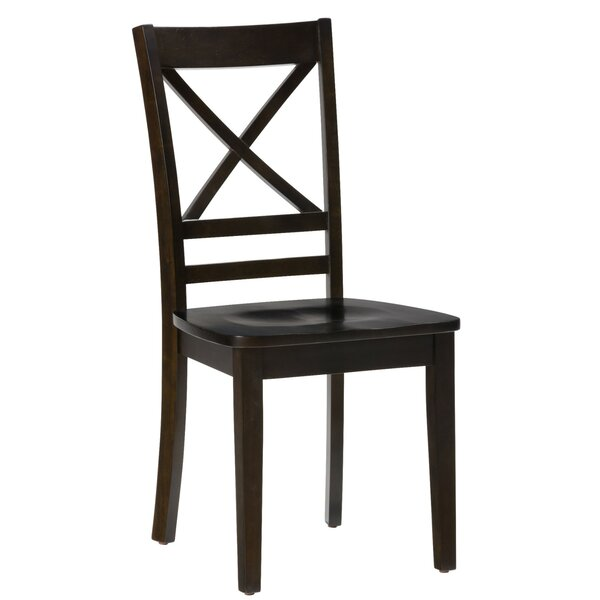 Hammock Wooden Solid Wood Dining Chair (Set of 2) by Breakwater Bay