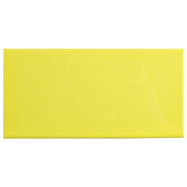 Prospect 3 x 6 Ceramic Subway Tile in Glossy Canary Yellow by EliteTile