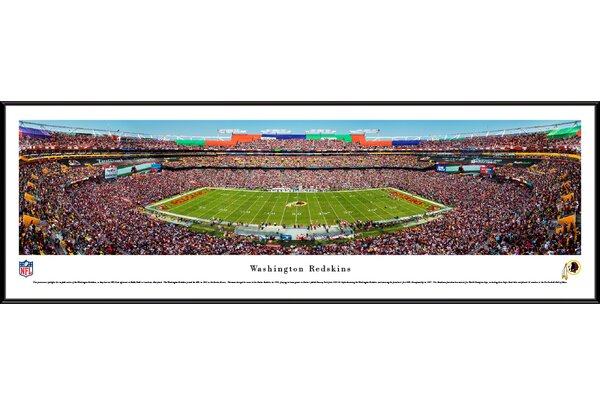 NFL Washington Redskins 50 Yard Line Framed Photographic Print by Blakeway Worldwide Panoramas, Inc