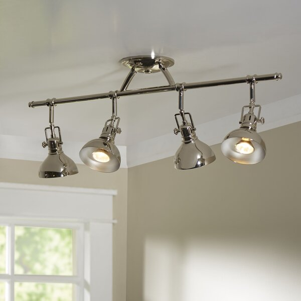 Dollinger 4-Light Fixed Track Lighting Kit by Beachcrest Home
