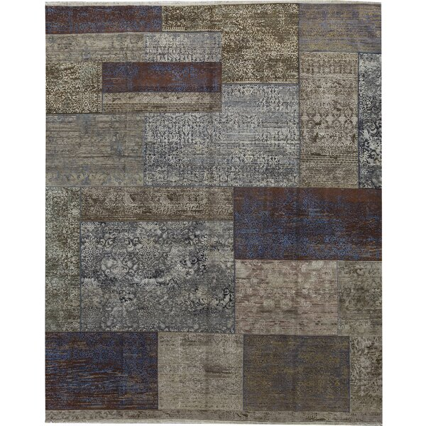 One-of-a-Kind Chantel Hand-Knotted Gray 12' x 14'8 Area Rug
