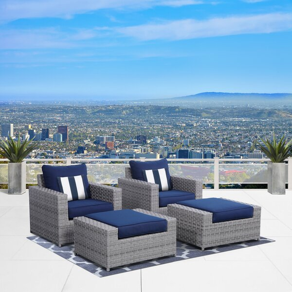 Kordell 4 Piece Seating Group with Cushions by Sol 72 Outdoor Sol 72 Outdoor