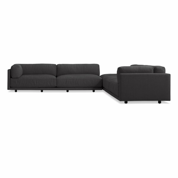 Review Sunday Backless L Sectional Sofa
