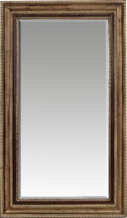 Southmead Rectangle Antique Gold and Black Wood Leaner Mirror by Darby Home Co